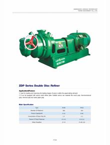 ZDP Series Double Disc Refiner