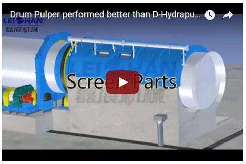 Drum Pulper performed better than D-Hydrapulper