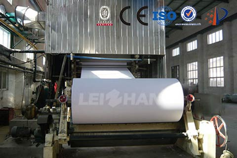 Wet Dehydration of Paper Machine